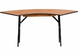 5.5 ft. x 2 ft. Serpentine Wood Folding Banquet Table  - YT-WSFT48-24-SP-GG
