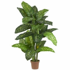 5' Dieffenbachia Silk Plant (Real Touch) - Nearly Natural - 6573