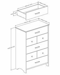 5 Drawer Chest - Highway - South Shore Furniture - 3679035