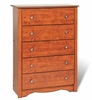 5 Drawer Chest in Cherry - Monterey Collection - Prepac Furniture - CDC-3345