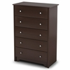 5-Drawer Chest in Chocolate - Vito - South Shore Furniture - 3119035