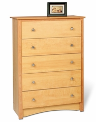 5 Drawer Chest in Maple - Sonoma Collection - Prepac Furniture - MDC-3345