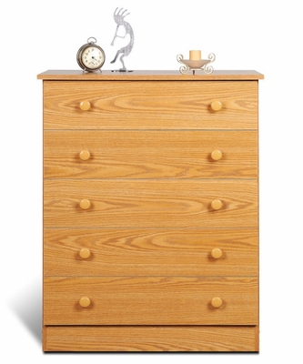 5 Drawer Chest in Oak - Prepac Furniture - OBD-3038-5