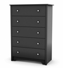 5-Drawer Chest in Solid Black - South Shore Furniture - 3170035