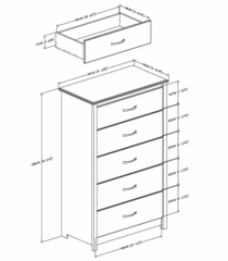 5 Drawer Chest - Vendome - South Shore Furniture - 3810025