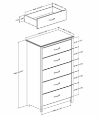 5 Drawer Chest - Vendome - South Shore Furniture - 3887025