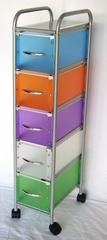 5 Drawer Chest with Multi Color drawers - 4D Concepts - 363029