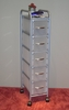5 Drawer Chest with White drawers - 4D Concepts - 363009