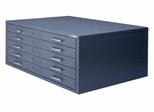 5-Drawer File for 30 Inch x 42 Inch Sheets in Gray - Mayline Office Furniture - 7868CP5
