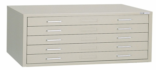 5-Drawer File for 30 Inch x 42 Inch Sheets in Sand Beige - Mayline Office Furniture - 7868CD5
