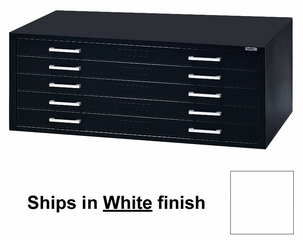 5-Drawer File for 30 Inch x 42 Inch Sheets in White - Mayline Office Furniture - 7868CG5