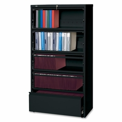 5-Drawer Lateral File - Black - LLR43513