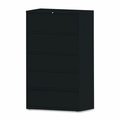 5-Drawer Lateral File - Black - LLR43517