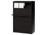 5-Drawer Lateral File - Black - LLR60551