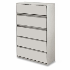 5-Drawer Lateral File - Gray - LLR60433
