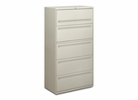 5-Drawer Lateral File - Light Gray - HON785LQ