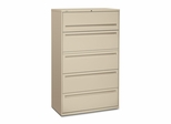 5-Drawer Lateral File - Putty - HON795LL