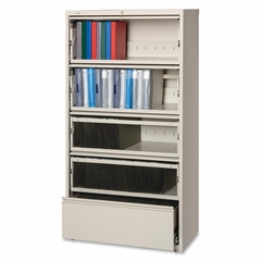 5-Drawer Lateral File - Putty - LLR43512