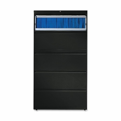 5-Drawer Lateral File W/Lock - Black - HON885LP