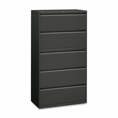 5-Drawer Lateral File W/Lock - Charcoal - HON885LS