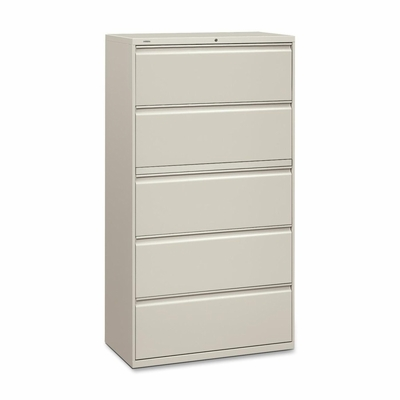 5-Drawer Lateral File W/Lock - Gray - HON885LQ