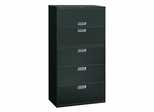 5 Drawer Locking Lateral File Cabinet in Charcoal - HON685LS