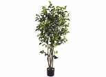 5' Ficus Bushy Silk Tree - Nearly Natural - 5333