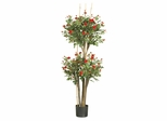 5' Mini Rose Silk Tree in Red - Nearly Natural - 5238