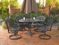 5-Piece 42 Inch Round Outdoor Dining Set in Black - Home Styles - 5554-305