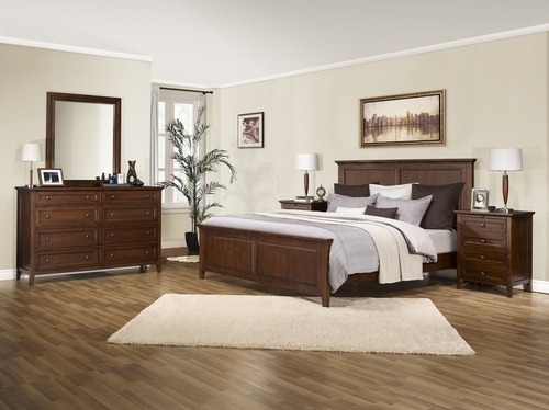 5-Piece Bedroom Furniture Set with King Size Bed - Asti - Lifestyle Solutions - ABN-5PEK-BA-SET