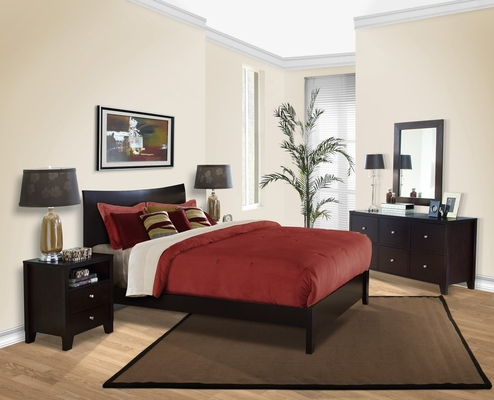 5-Piece Bedroom Furniture Set with Queen Size Bed - Canova - Lifestyle Solutions - CNV-5PQN-CP-SET