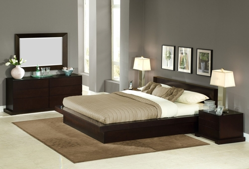 5-Piece Bedroom Furniture Set with Queen Size Bed - Zurich - Lifestyle Solutions - ZUR-5PQN-CP-SET