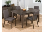 5-Piece Casual Antique Gray Dining Table & Side Chair Set - 728-72