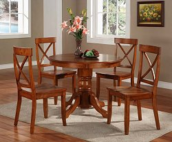 5 Piece Dining Room Furniture Set in Cottage Oak - 5179-DSET-1