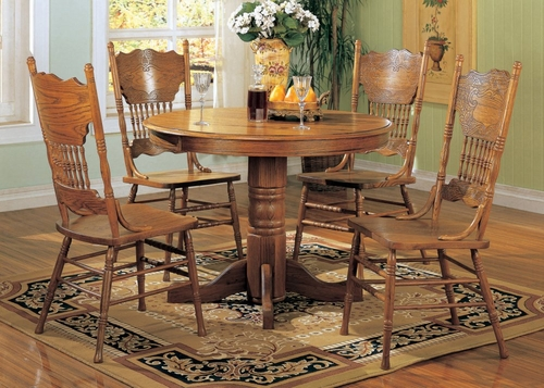 5-Piece Dining Set 1 in Oak - Coaster