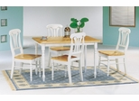 5-Piece Dining Set 4 in Natural / White - Coaster