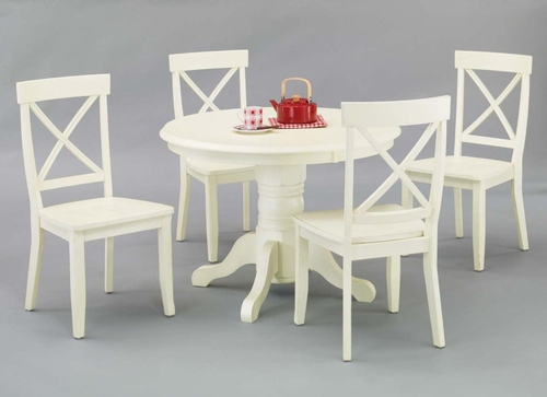 5-Piece Dining Set in Antique White - 5177-DSET