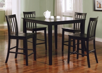 5-Piece Dining Set in Black - Coaster
