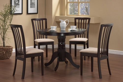 5-Piece Dining Set in Cappuccino - Coaster