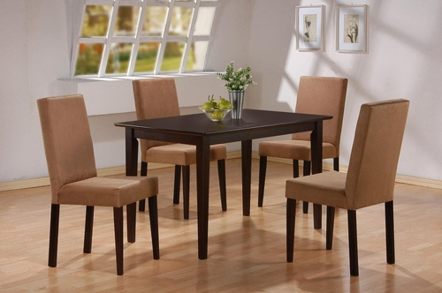 5-Piece Dining Set in Cappuccino - Coaster - COAST-11004911-DSET-1