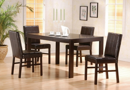 5-Piece Dining Set in Cappuccino - Coaster - COAST-11009611-DSET-1