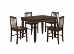 5-Piece Dining Set in Espresso - C48F2ES