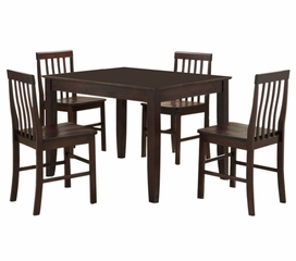 5-Piece Dining Set in Espresso - C48S2ES