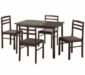 5-Piece Dining Set in Espresso - TW5STRES