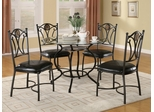 5-Piece Dining Set in Metal - Coaster