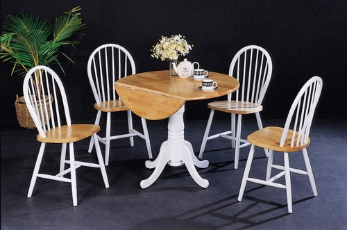 5-Piece Dining Set in Natural / White - Coaster