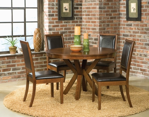 5-Piece Dining Set in Walnut - Coaster - COAST-11013211-DSET-1