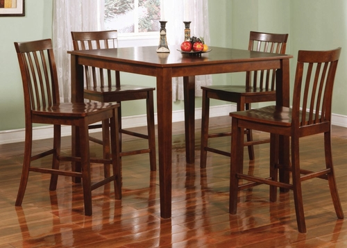 5-Piece Dining Set in Walnut - Coaster - COAST-1150231WLN1