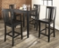 5-Piece Pub Dining Set with Tapered Leg and Shield Back Stools in Black Finish - Crosley Furniture - KD520006BK