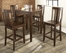 5-Piece Pub Dining Set with Tapered Leg and Shield Back Stools in Vintage Mahogany Finish - Crosley Furniture - KD520006MA